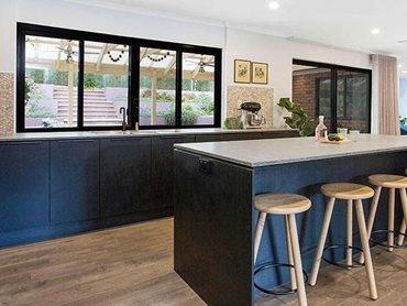 Carinya Classic sliding windows in the kitchen