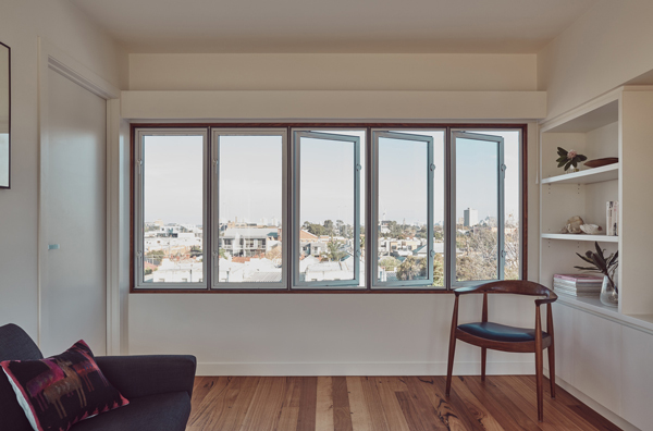 Clifton Hill Terraces windows
