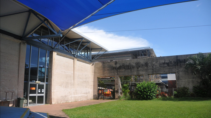 Darwin High School Tank AAA courtyard