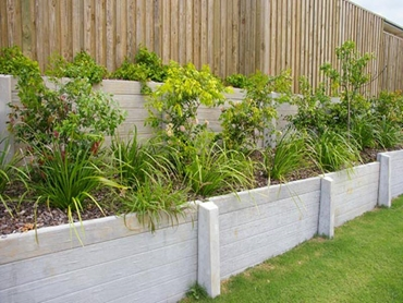 Sleeper Retaining Wall with garden bed