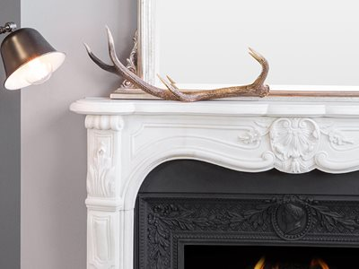 Detailed product image of Schots marble mantlepiece