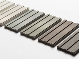 All new facade panel with a linear grooved surface – Swisspearl® Largo Gravial®