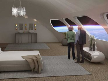 The luxury suites are designed with all earthly comforts for future space travellers