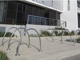 Bicycle parking racks and rails by Cora Bike Rack