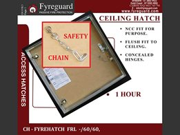 Concealed hinge – Ceiling hatch: 1 hour CH