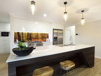 Forest Image DecoSplash Residential Kitchen Interior