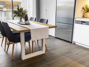 Timber is a sustainable material for kitchen floors