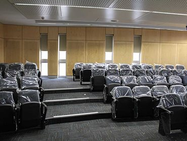 Lecture room at WSU - blockout and sunscreen blinds were supplied