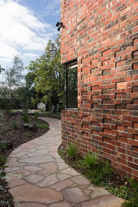 Brick Courtyard House recycled brick
