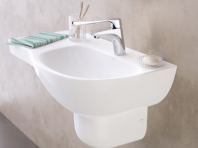 Caroma Care Collection aged care detailed basin mixer product image