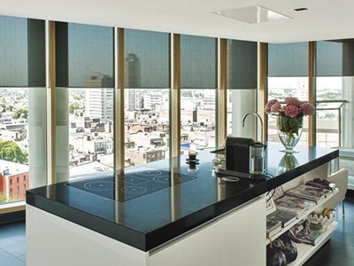 Verosol Motorised Blinds Residential Kitchen Interior