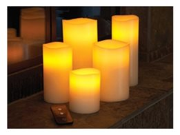 Low Voltage Flameless Candle Systems and Remote Controlled Wax Pillars from Smart Candle