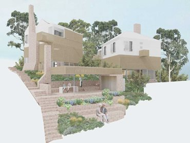 Artist's impression of Curious Practice's winning entry in the professional category of the dWELL competition
