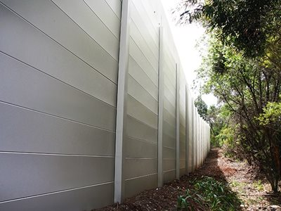 AcoustiSorb Boundary Wall Surrounding Factory