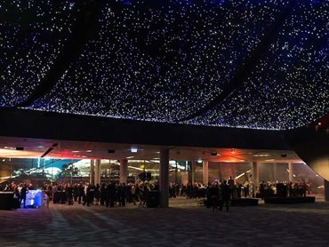 ACC's Plenary Hall featuring the Starry Night system - the largest fibre optic starfield in the world with over 42,000 light points
