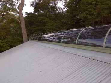 Skyspan Barrel Vaults are available in a range of solar tints