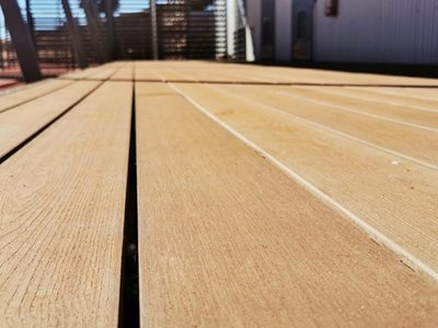 Detailed image of wood composite decking