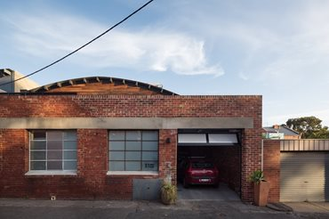 Adaptive Reuse, brick exterior passive warehouse conversion. Photography by Trevor Mein