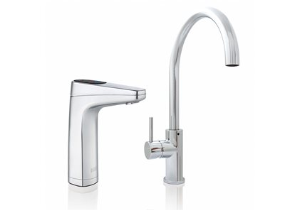 Product image of chrome silver filtered water taps