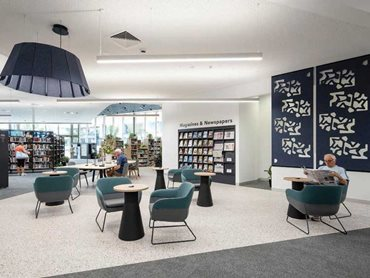 The 2,200sqm Ipswich Central Library