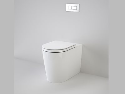 Caroma concealed cistern with adjustable flushpipe toilet suite