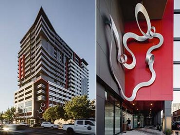 ExoTec façade panels on Central Adelaide Apartments