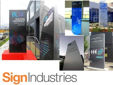 Architectural and Custom Signage Design and Manufacture from Sign Industries
