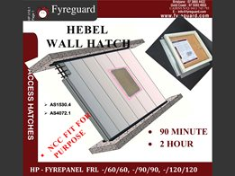 Hebelpanel – Screw fixed: Wall 90 minute & 2 hour FYREPANEL