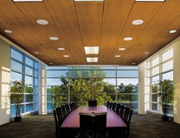 Bring a little nature inside with the warmth and beauty of Armstrong's WoodWorks ™ wood ceilings