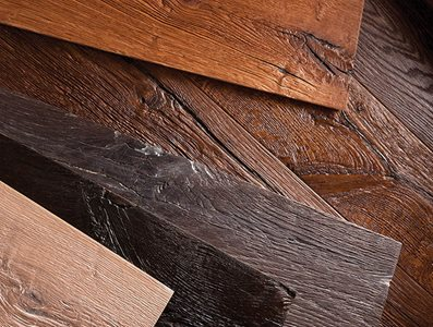 Range of wood textures