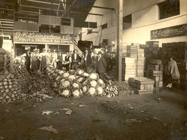 The historic fruit and produce market on Turbot Street (Credit: Photograph supplied by the Brisbane Markets Arch Martin History Room)