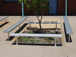 BAB Aluminium School Bench Seating