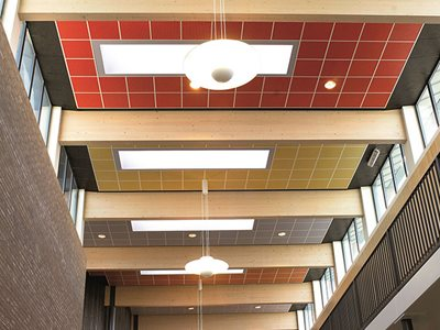 Plaza Plasterboard Ceiling Tile Commercial Interior