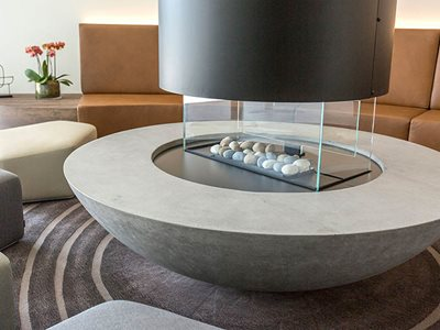 Residential Circular Concrete Coffee Table