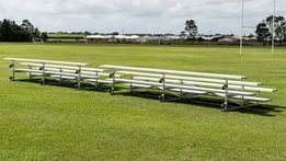 Portable Grandstands Tip n Roll Grandstands offer the perfect seating solution, that moves with seasons