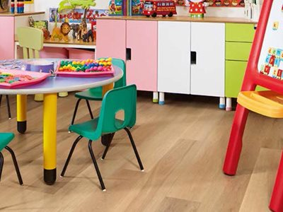 Karndean Korlok Click rigid vinyl flooring educational facility interior