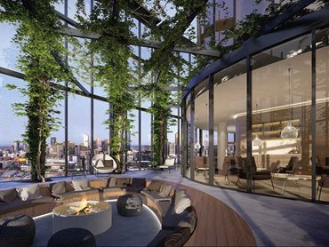 Exclusive residents-only rooftop space on level 43 of Voyager