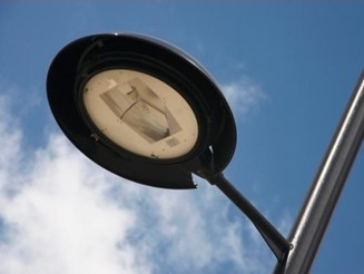 Detailed image of street lamp