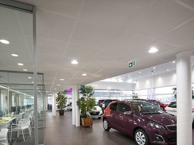Plaza Plasterboard Ceiling Tile Car Showroom Interior