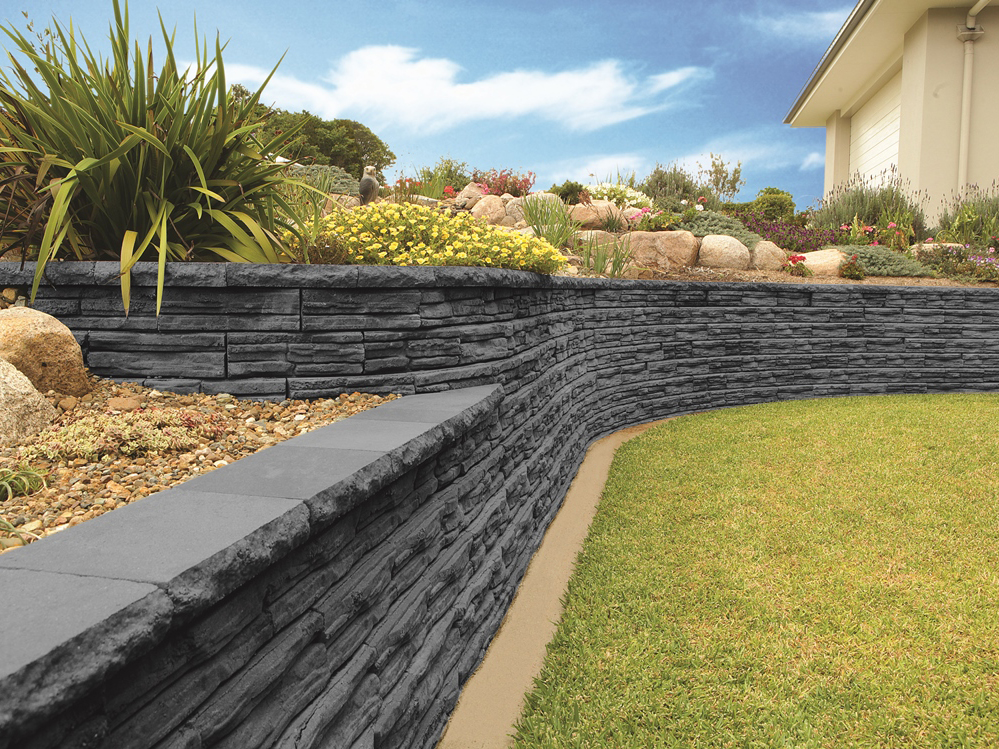 Retaining wall and decorative garden wall systems