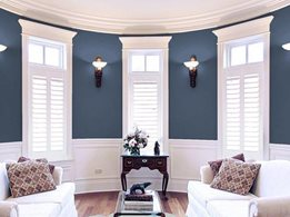 Contemporary timber plantation shutters