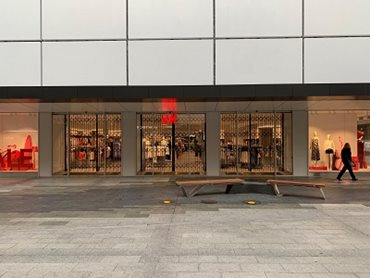 ATDC's security shutters at H+M Rundle Mall Adelaide