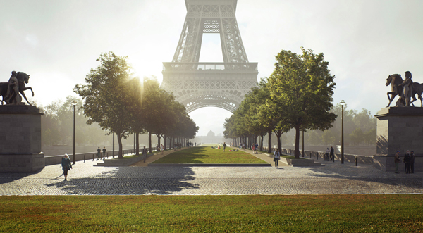 Eiffel Tower redesign trees