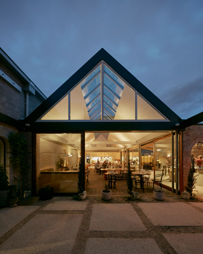 Transforming A Factory Into A Contemporary Light Filled Restaurant Architecture Design