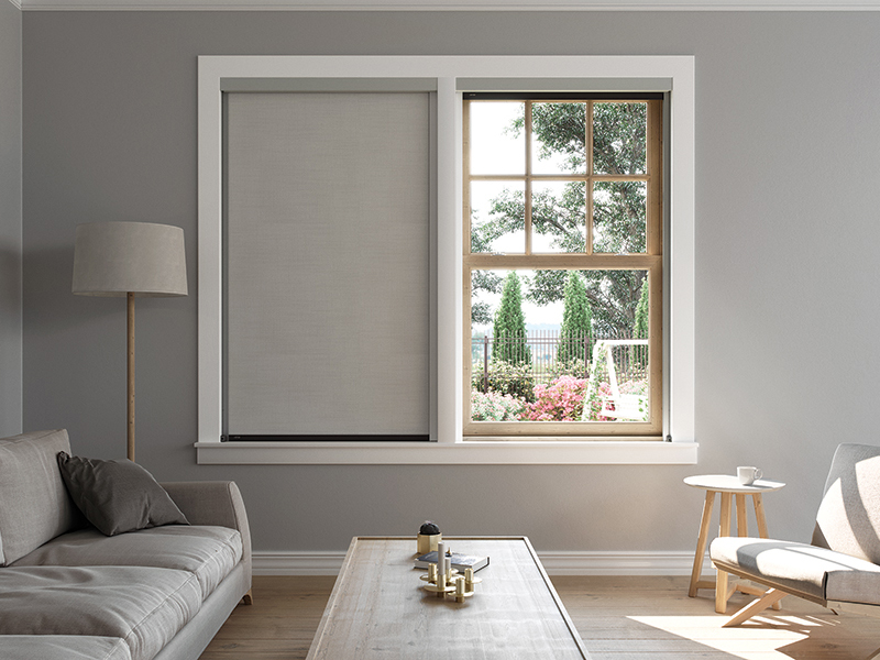 Centor S6 aluminium screen and blind system for windows