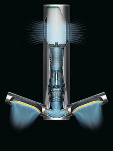 Dyson Airblade 9KJ cutaway product image showing airflow