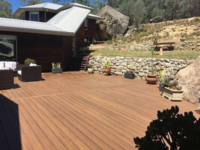 Large Patio With Outdoor Decking