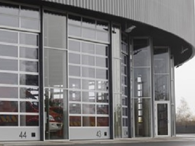 Charleroi fire station with ASSA ABLOY glass doors