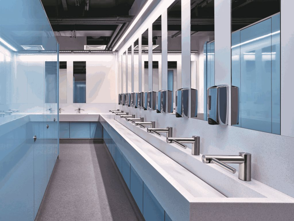 Corian® for public bathrooms