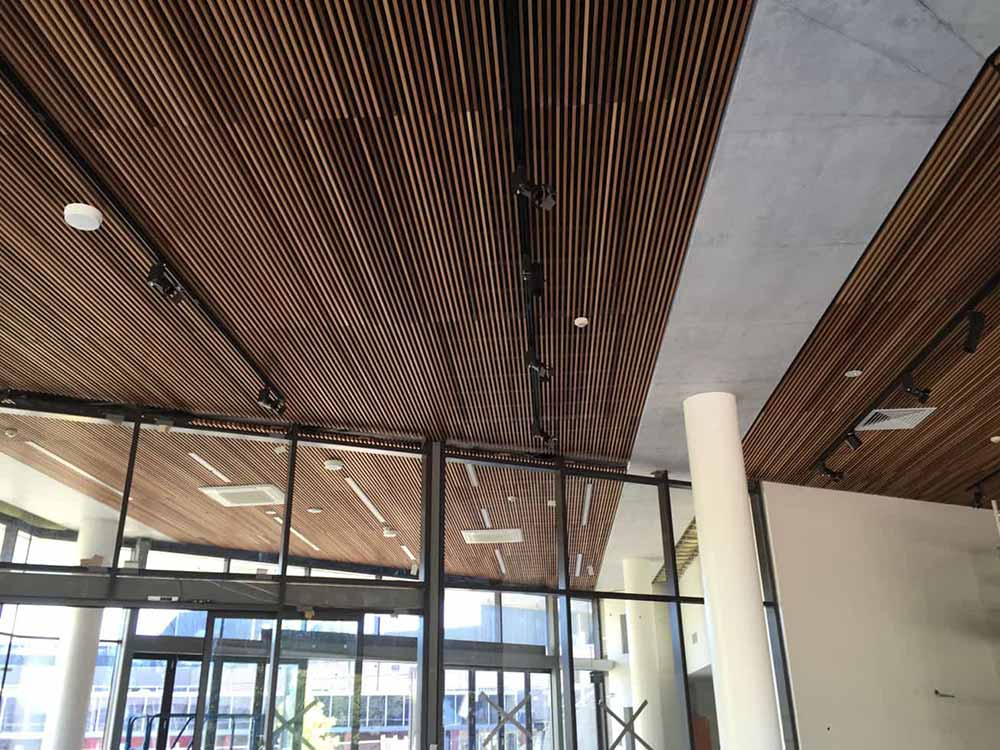 Acoustic ceiling slat